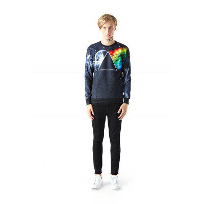 Mr 1991 INC Miss Go Fashion Triangle Motif Sweatshirt