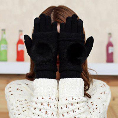 Knitted Double Use Touch Screen Gloves for Women