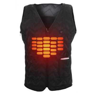 Male Fashion Solid Color Electric Heated Vest