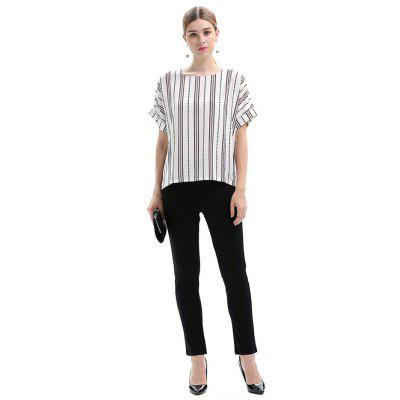 Oversize Striped Short Sleeves T-Shirt