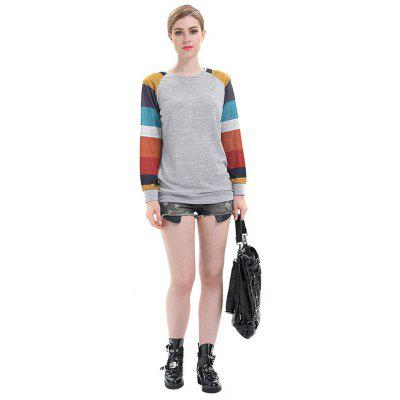 Casual Striped Long Sleeves T-Shirt