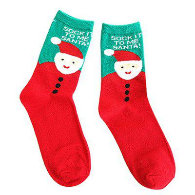 Lovely Breathable Printing Socks for Christmas