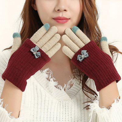 Women Detachable Knitted Warm Touch Screen Gloves
