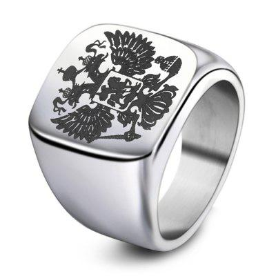 Men Cool Stainless Steel Double-headed Eagle Motif Ring