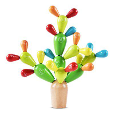 Educational Toy Colorful Cactus Style Building Block