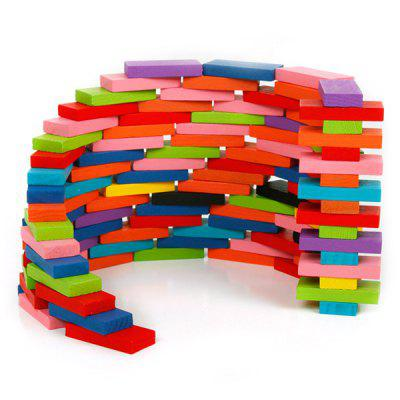 Wooden Puzzle Toy Domino for Children 120pcs