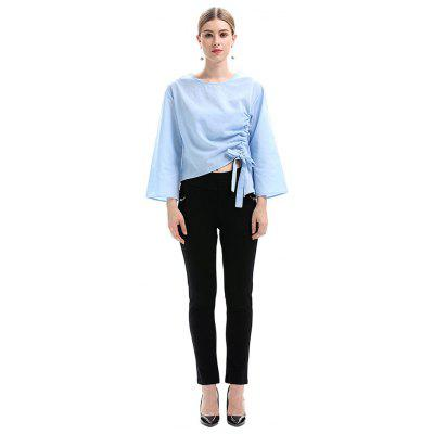 Creative Wide Sleeves Bowknot Blouse