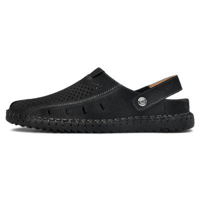 Men Stylish Beach Adjustable Anti-collision Casual SandalsMens Sandals<br>Men Stylish Beach Adjustable Anti-collision Casual Sandals<br><br>Closure Type: Slip-On<br>Contents: 1 x Pair of Shoes, 1 x Box<br>Decoration: Hollow Out<br>Function: Slip Resistant<br>Materials: Microfiber, Rubber<br>Occasion: Shopping, Rainy Day, Outdoor Clothing, Holiday, Daily, Beach, Casual<br>Outsole Material: Rubber<br>Package Size ( L x W x H ): 31.00 x 20.00 x 13.00 cm / 12.2 x 7.87 x 5.12 inches<br>Package weight: 0.9200 kg<br>Pattern Type: Solid<br>Product weight: 0.7800 kg<br>Seasons: Spring,Summer<br>Style: Modern, Leisure, Fashion, Comfortable, Casual<br>Toe Shape: Round Toe<br>Type: Sandals<br>Upper Material: Microfiber