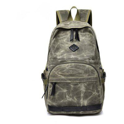 Men Durable Large Capacity Canvas Laptop Backpack