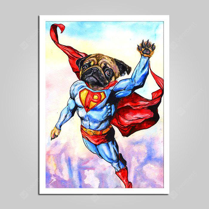 E - HOME Canvas Prints Cartoon Dog Hanging Wall Art
