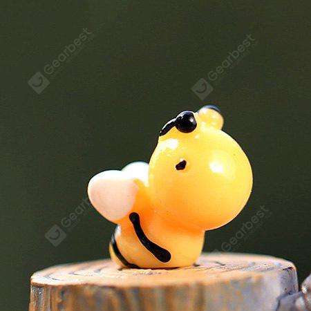 Cartoon Resin Bee for Moss Micro Landscape Decoration 1pc