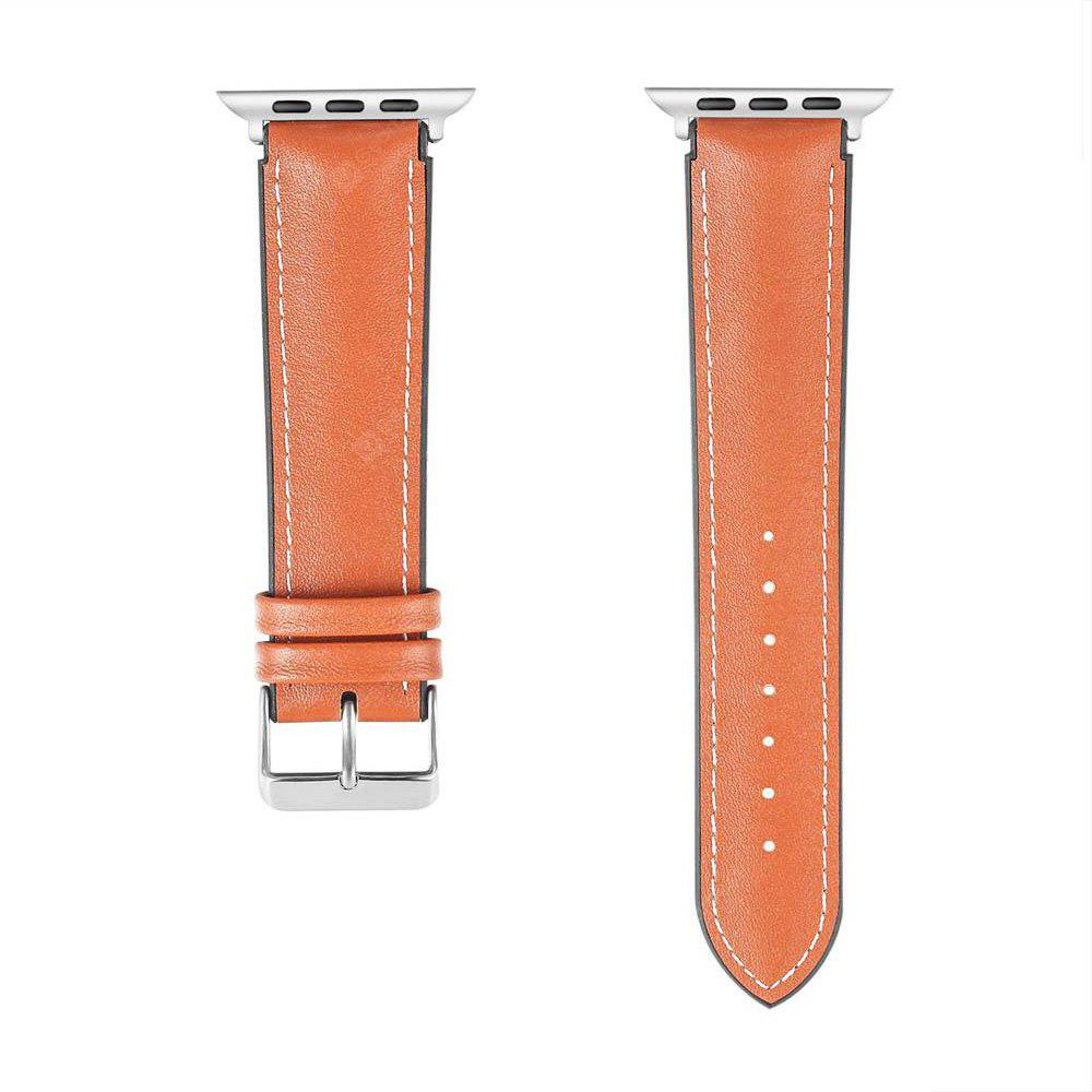 Genuine Leather Pin Buckle Watch Band for iWatch 38MM