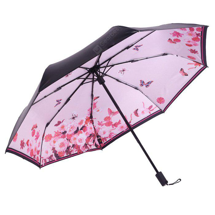 Flower Pattern Windproof Lightweight Umbrella
