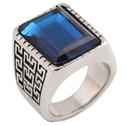 Classic Stainless Steel Ring with Artificial Zircon