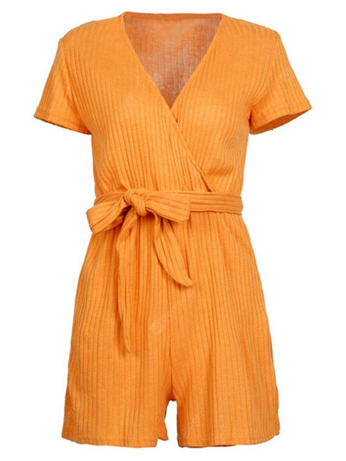 Solid Color Short Sleeves Jumpsuits