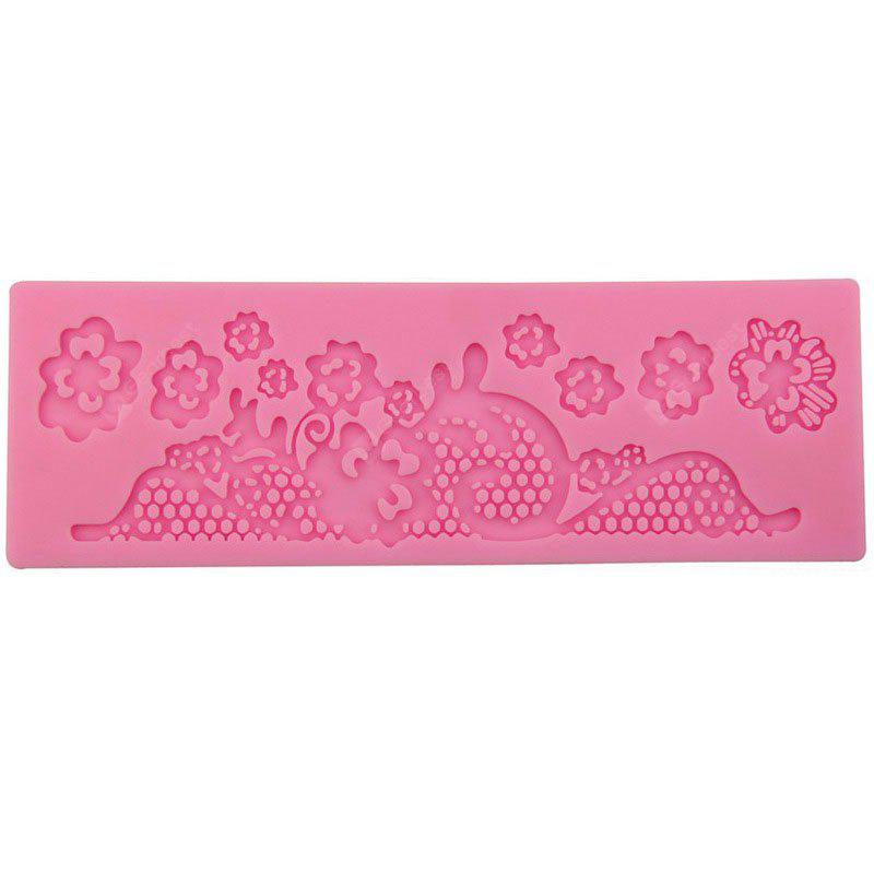 facemile Floral Pattern Cake Candy Silicone Mold