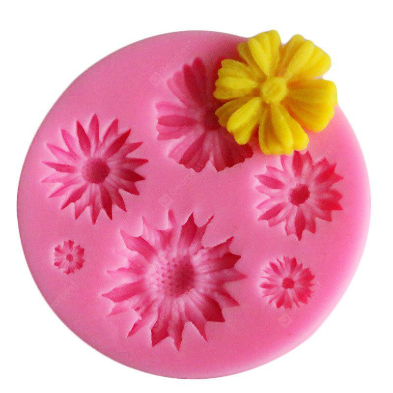 facemile Cake Candy Chocolate Soap Sunflower Silicone Mold