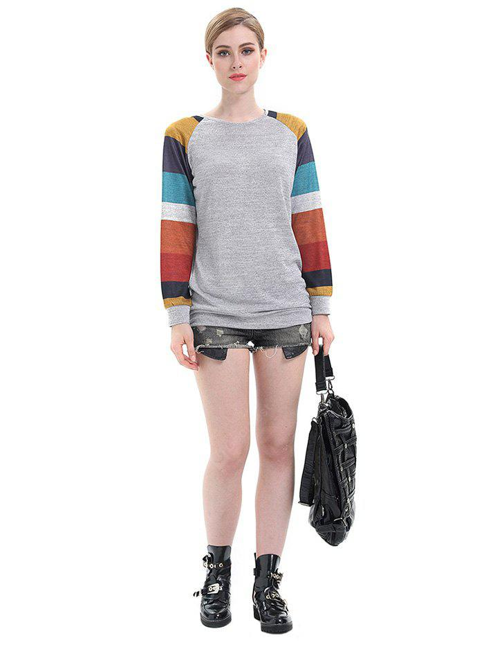 Casual Striped Long Sleeves T-Shirt for Women