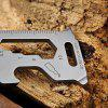 Outdoor Mini Portable EDC Multi-functional Tools - SILVER