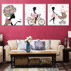 Modern Canvas Prints Butterfly Girls Hanging Wall Art 3PCS - COLORMIX