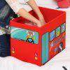 Multifunctional Toys Storage Stool - RED