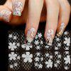 XM DIY Flower Design Manicure Tools Nail Sticker - WHITE