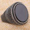 Stylish Stainless Steel Vintage Men Ring - SILVER