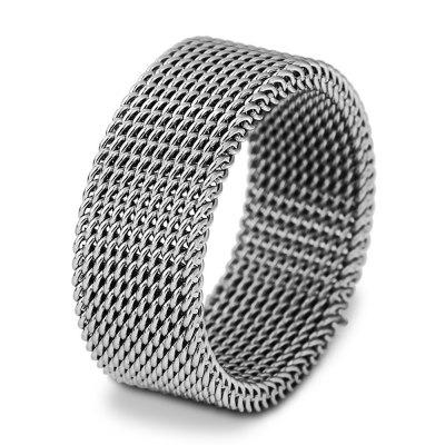Trendy Unisex Stainless Steel Net Ring