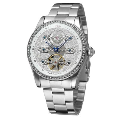 Forsining F98469 Hollow-out Stainless Steel Band Men Watch
