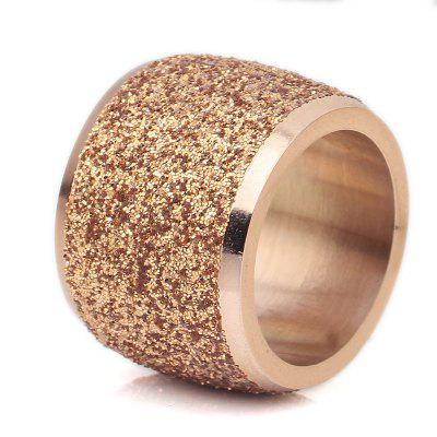 Unisex Frosted Sparkling Stainless Steel Ring