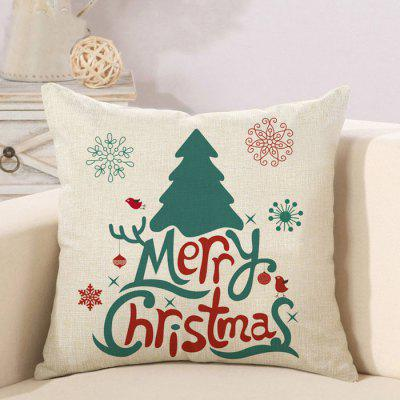 MCYH Christmas Flax Throw Pillow Case Cushion Cover