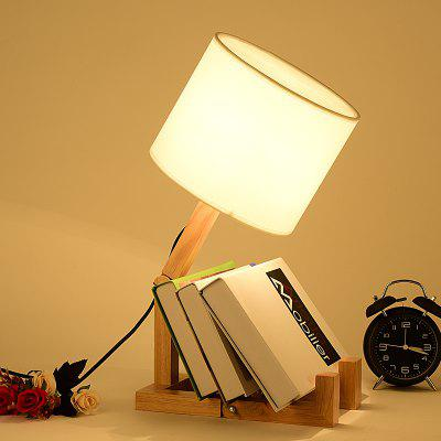 Creative Lamp Wooden Robot Type for Study Room Office