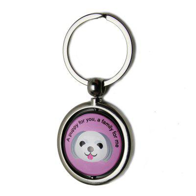 Pet Anti-lost ID Tag QR Code Key Ring