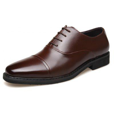 MUHUISEN Men Formal Casual Business Dress ShoesFormal Shoes<br>MUHUISEN Men Formal Casual Business Dress Shoes<br><br>Brand: MUHUISEN<br>Closure Type: Lace-Up<br>Contents: 1 x Pair of Shoes, 1 x Box<br>Function: Slip Resistant<br>Materials: Rubber, Leather<br>Occasion: Tea Party, Shopping, Party, Office, Formal, Casual, Daily, Dress<br>Outsole Material: Rubber<br>Package Size ( L x W x H ): 32.00 x 16.00 x 12.00 cm / 12.6 x 6.3 x 4.72 inches<br>Package weight: 1.2000 kg<br>Pattern Type: Solid<br>Product weight: 0.9000 kg<br>Seasons: Autumn,Spring<br>Style: Modern, Leisure, Formal, Fashion, Comfortable, Business, Casual<br>Toe Shape: Round Toe<br>Type: Casual Leather Shoes<br>Upper Material: Leather