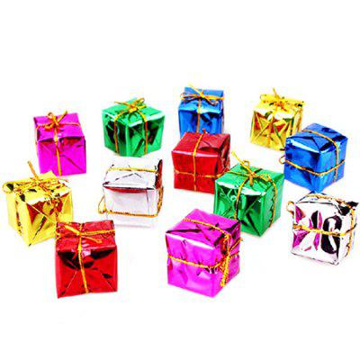 Colorful Box Christmas Tree Scene Decoration Props 12PCS