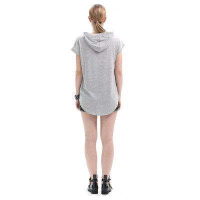 Casual Loose Cap Sleeves Long HoodieSweatshirts &amp; Hoodies<br>Casual Loose Cap Sleeves Long Hoodie<br><br>Clothes Type: Hoodie<br>Material: Cotton<br>Occasion: Casual, Daily Use, Going Out<br>Package Contents: 1 x Hoodie<br>Package size: 35.00 x 28.00 x 3.00 cm / 13.78 x 11.02 x 1.18 inches<br>Package weight: 0.3000 kg<br>Pattern: Solid Color<br>Product weight: 0.2700 kg<br>Style: Casual, Brief