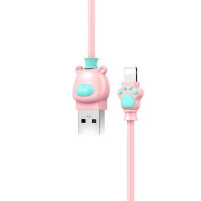 Baseus Cartoon Bear 8 Pin USB Data Sync and Charging CableiPhone Cables &amp; Adapters<br>Baseus Cartoon Bear 8 Pin USB Data Sync and Charging Cable<br><br>Brand: Baseus<br>Cable Length (cm): 100cm<br>Interface Type: 8 pin<br>Package Contents: 1 x 100cm USB Cable<br>Package size (L x W x H): 10.00 x 10.00 x 2.00 cm / 3.94 x 3.94 x 0.79 inches<br>Package weight: 0.0590 kg<br>Product size (L x W x H): 100.00 x 1.60 x 0.90 cm / 39.37 x 0.63 x 0.35 inches<br>Product weight: 0.0290 kg