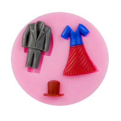 Facemile Clothes Style Silicone Chocolate Cake Mold