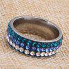 Unisex Artificial Diamonds Stainless Steel Ring - COLORMIX