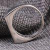 Men Solid Rectangle Stainless Steel Ring - SILVER