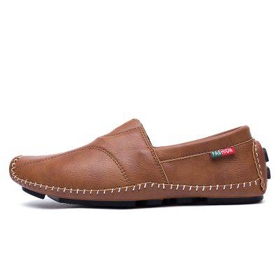 Soft Stitching Anti-skid Slip-on Casual ShoesFlats &amp; Loafers<br>Soft Stitching Anti-skid Slip-on Casual Shoes<br><br>Closure Type: Slip-On<br>Contents: 1 x Pair of Shoes<br>Function: Slip Resistant<br>Materials: Rubber, Microfiber<br>Occasion: Daily<br>Outsole Material: Rubber<br>Package Size ( L x W x H ): 33.00 x 24.00 x 13.00 cm / 12.99 x 9.45 x 5.12 inches<br>Package weight: 0.8000 kg<br>Product weight: 0.6000 kg<br>Seasons: Autumn,Spring<br>Style: Fashion, Leisure, Comfortable, Casual<br>Toe Shape: Square Toe<br>Type: Casual Shoes<br>Upper Material: Microfiber
