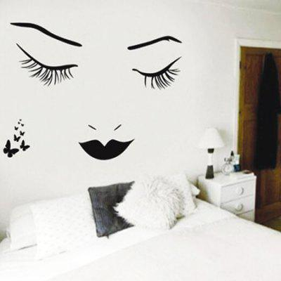 HESSION Decorative PVC Wall Sticker Sexy Style Mural Decals
