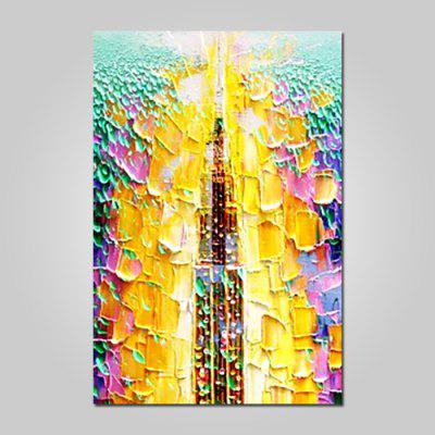 Mintura Vertical Oil Painting Abstract Pattern Hanging Wall Art