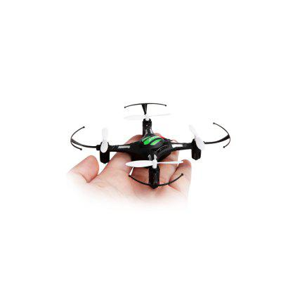 JJRC H8 Mini 2.4G 4CH Brushed RC Drone - RTFRC Quadcopters<br>JJRC H8 Mini 2.4G 4CH Brushed RC Drone - RTF<br><br>Battery: 3.7V 150mAh ( built-in )<br>Brand: JJRC<br>Built-in Gyro: Yes<br>Channel: 4-Channels<br>Charging Time.: 45mins<br>Compatible with Additional Gimbal: No<br>Control Distance: 0-50m<br>Detailed Control Distance: About 30m<br>Features: Radio Control<br>Flying Time: 5-7mins<br>Functions: Wings flap, Up/down, Turn left/right, Sideward flight, Forward/backward, 3D rollover, 360 degrees spin<br>Kit Types: RTF<br>Level: Beginner Level<br>Material: Plastic, Electronic Components, Alloy<br>Mode: Mode 2 (Left Hand Throttle)<br>Motor Type: Brushed Motor<br>Night Flight: Yes<br>Package Contents: 1 x Quadcopter, 1 x RC Transmitter, 1 x USB Charging Plug, 1 x English / Chinese Manual, 2 x Spare Blade, 1 x  Copter Battery, 4 x Pad, 1 x Screwdriver<br>Package size (L x W x H): 15.00 x 14.00 x 8.00 cm / 5.91 x 5.51 x 3.15 inches<br>Package weight: 0.2000 kg<br>Radio Mode: Mode 2 (Left-hand Throttle)<br>Remote Control: 2.4GHz Wireless Remote Control<br>Size: Micro<br>Transmitter Power: 3 x AAA battery(not included)<br>Type: Outdoor, Indoor, Quadcopter
