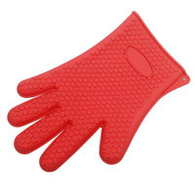 Oven High Temperature Resistant Silicone Gloves 1 Pair