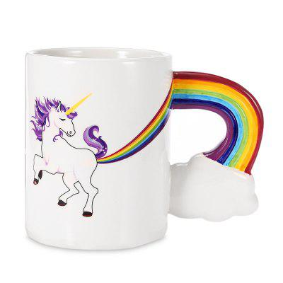 Creative Elegant Mug Horse Pattern Ceramic Milk Coffee Cup