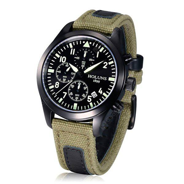 HOLUNS Men Stylish Canvas Band Reloj de cuarzo