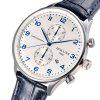 Reloj de cuarzo HOLUNS Men Business Leather Band - AZUL