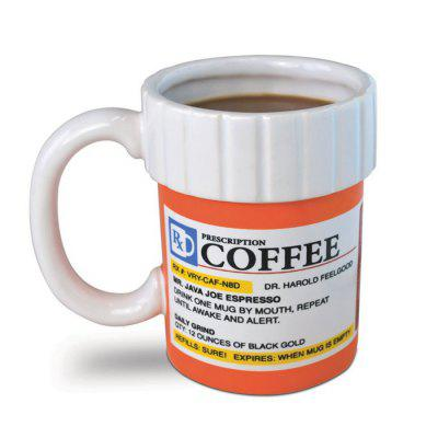 Medicine Bottle Style Ceramics Coffee Tea Cup