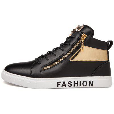 PU Zipper Ankle-high Sports Skateboarding ShoesCasual Shoes<br>PU Zipper Ankle-high Sports Skateboarding Shoes<br><br>Closure Type: Lace-Up<br>Contents: 1 x Pair of Shoes<br>Lining Material: Mesh<br>Materials: Mesh, PU, Rubber<br>Occasion: Sports, Holiday, Daily, Casual<br>Outsole Material: Rubber<br>Package Size ( L x W x H ): 32.00 x 23.00 x 12.00 cm / 12.6 x 9.06 x 4.72 inches<br>Package weight: 1.0000 kg<br>Product weight: 0.8500 kg<br>Seasons: Autumn,Spring<br>Style: Leisure, Fashion, Comfortable, Casual<br>Type: Skateboarding Shoes<br>Upper Material: PU